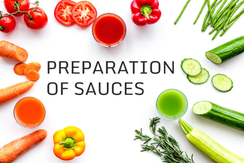 Preparation of sauces